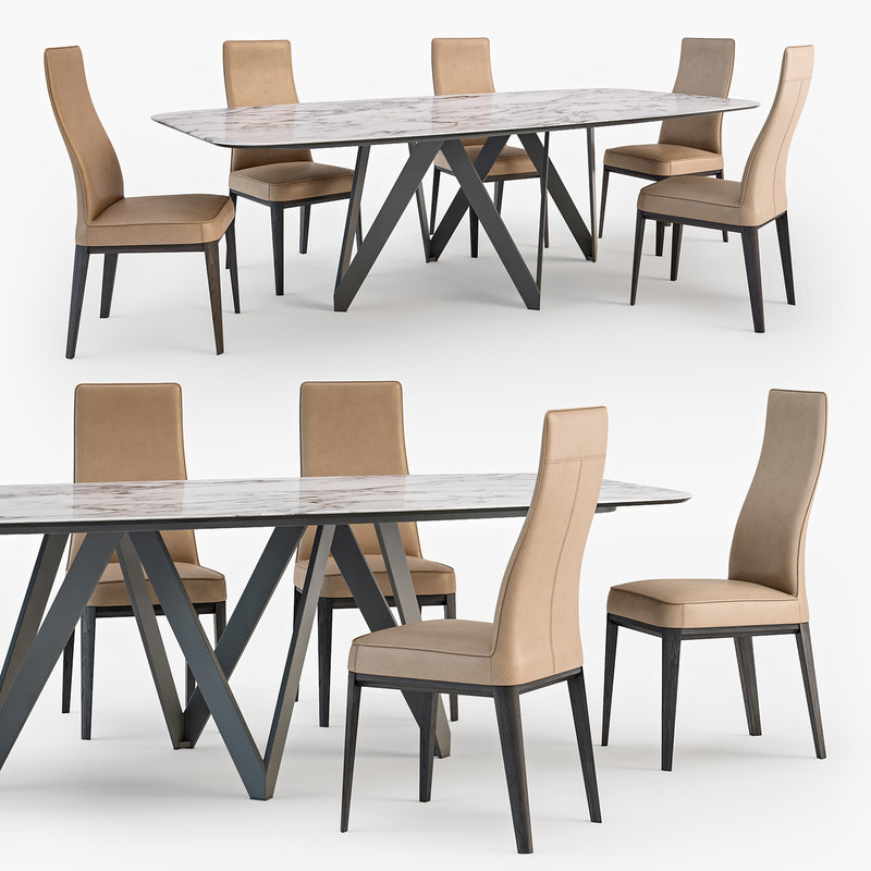 calligaris margot chair cartesio 3D