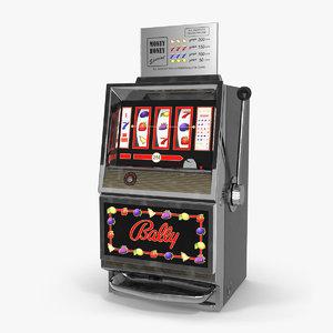3D model retro money honey slot machine