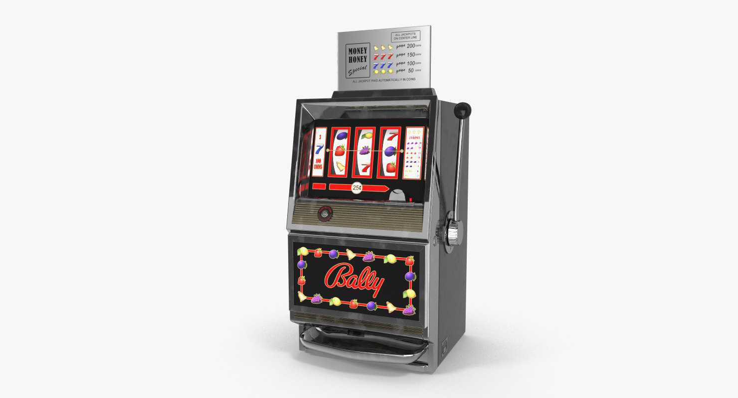 3D model retro money honey slot machine