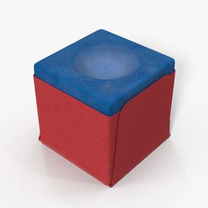 pool cue chalk 3D model