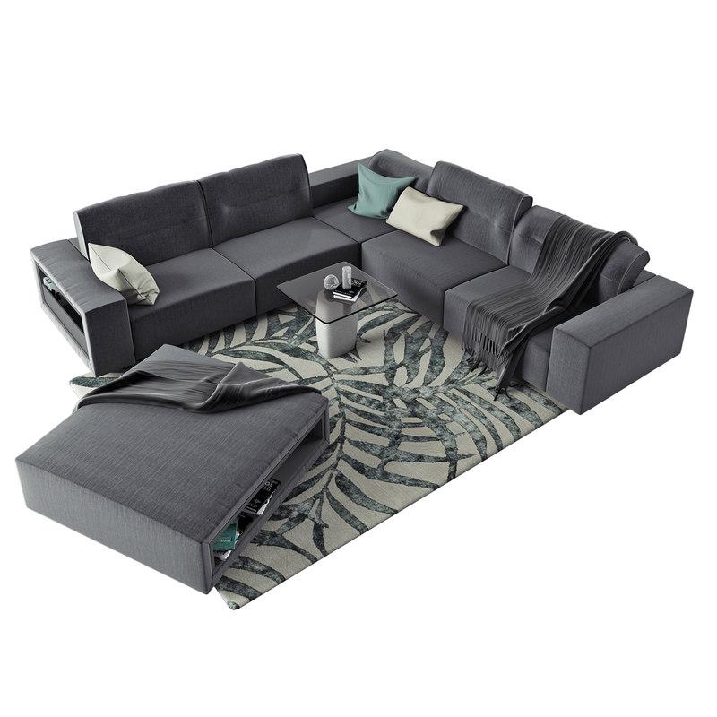 3D model interior boconcept hampton corner sofa - TurboSquid 1208084