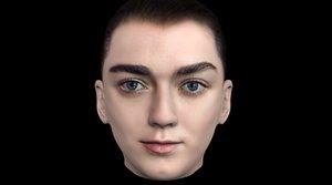 3D head arya stark