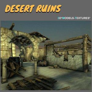 3D desert ruins model