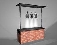 bar jack daniels 3D model