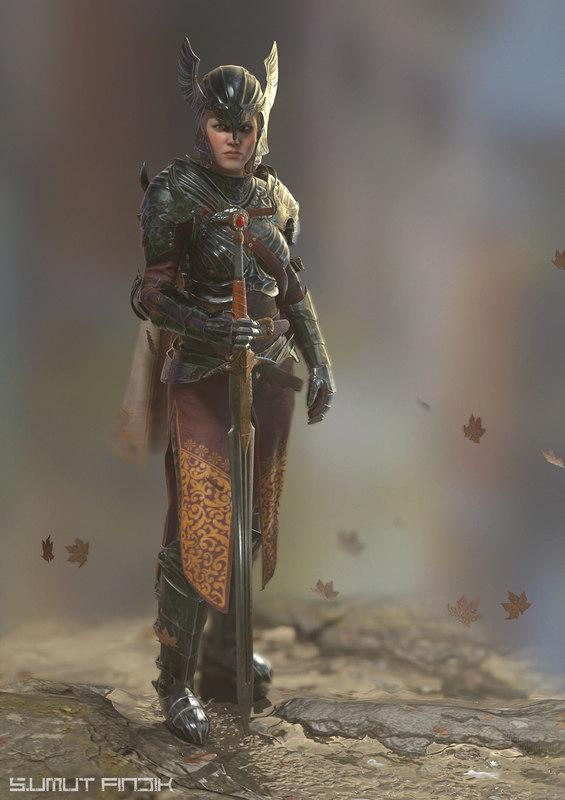 sword armor 3D