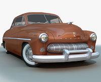 3D model 1949 mercury sedan