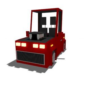 3D cartoonic car model