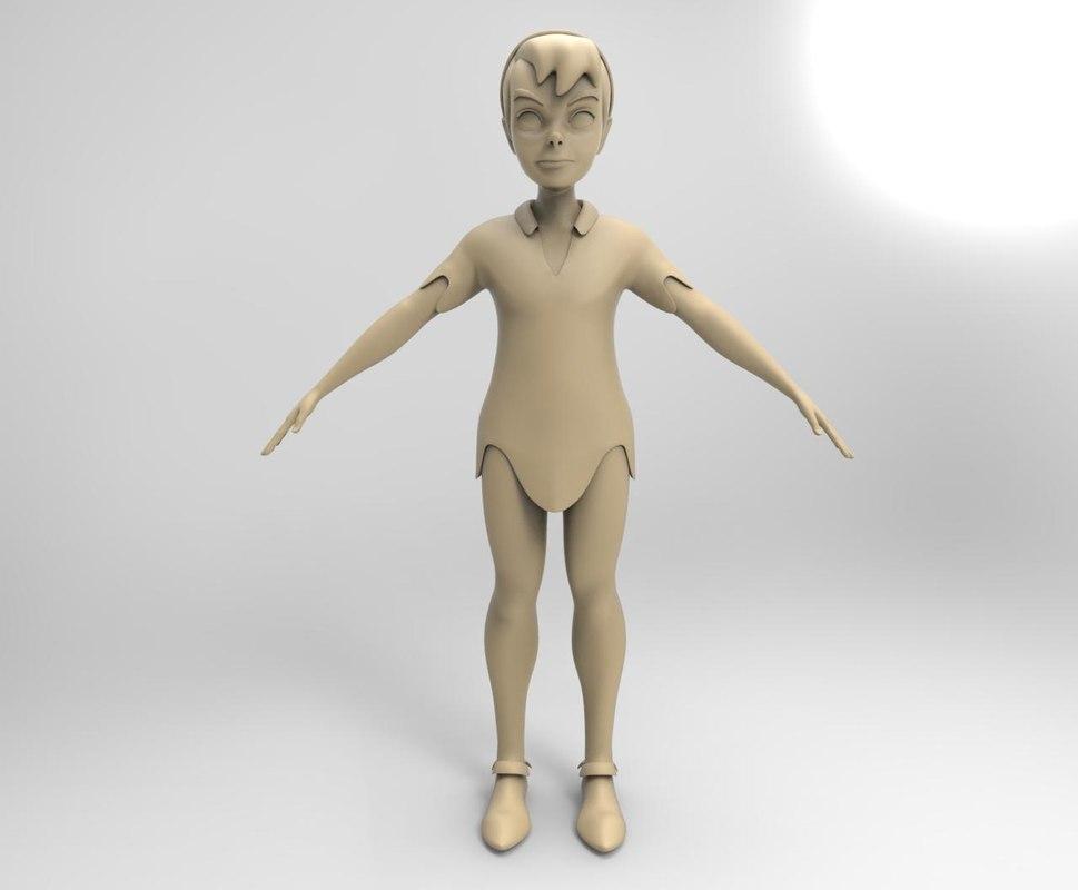 peter pan 3D model