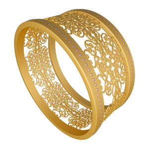 3D diamond bangle model