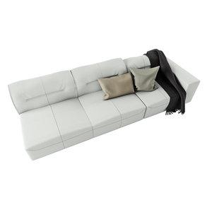 interior boconcept hampton sofa 3D model