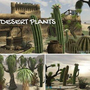 3D desert plants model