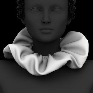 romantic pierrot collar 3D model