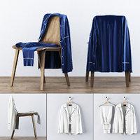 silk pajama set 3D model