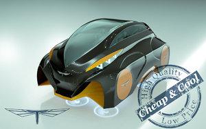 3D hover car model