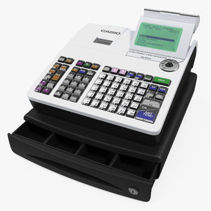 cash register casio 3D