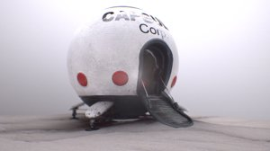 3D model capsule corporation spaceship