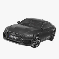 audi rs5 2017 rigged 3D model