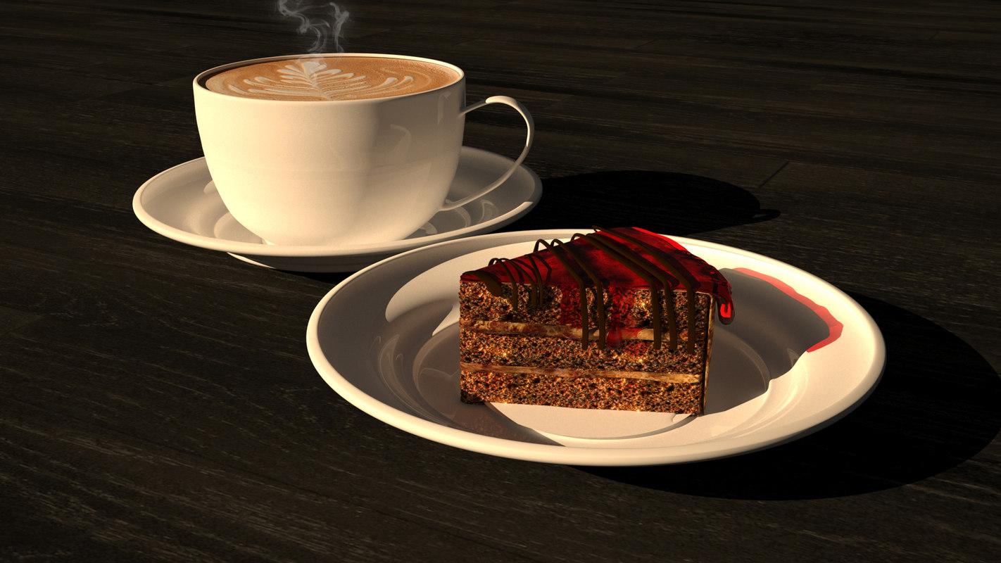 3D cake coffe