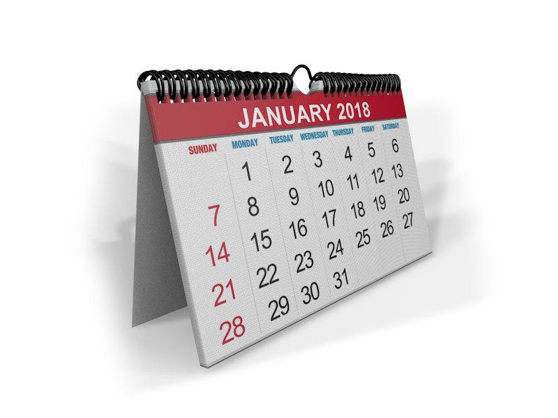 calendar dates 3D model