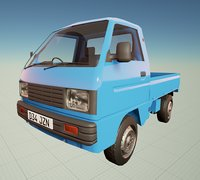 Low poly Mini van
