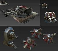 Scifi Turrets Set