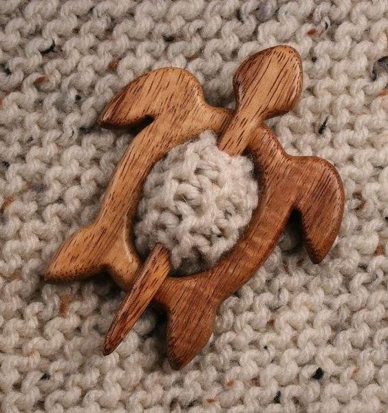 3D wood shawl pin model