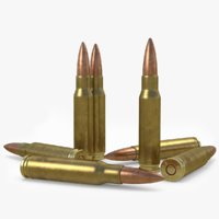 rifle cartridge 7 nato 3D model