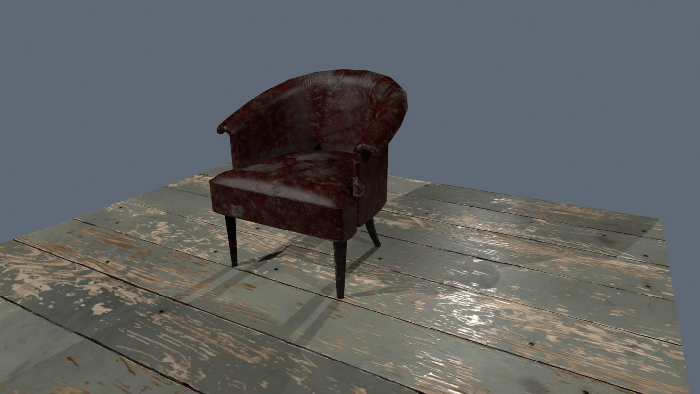 old leather chair 3D model