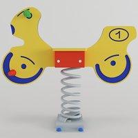 3D spring swing motorbike model