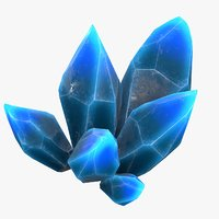 3D blue crystals model