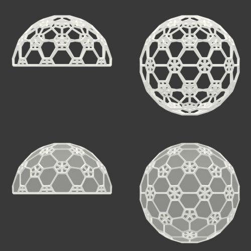 icosphere decor segments 3D