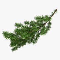 christmas branches 3D