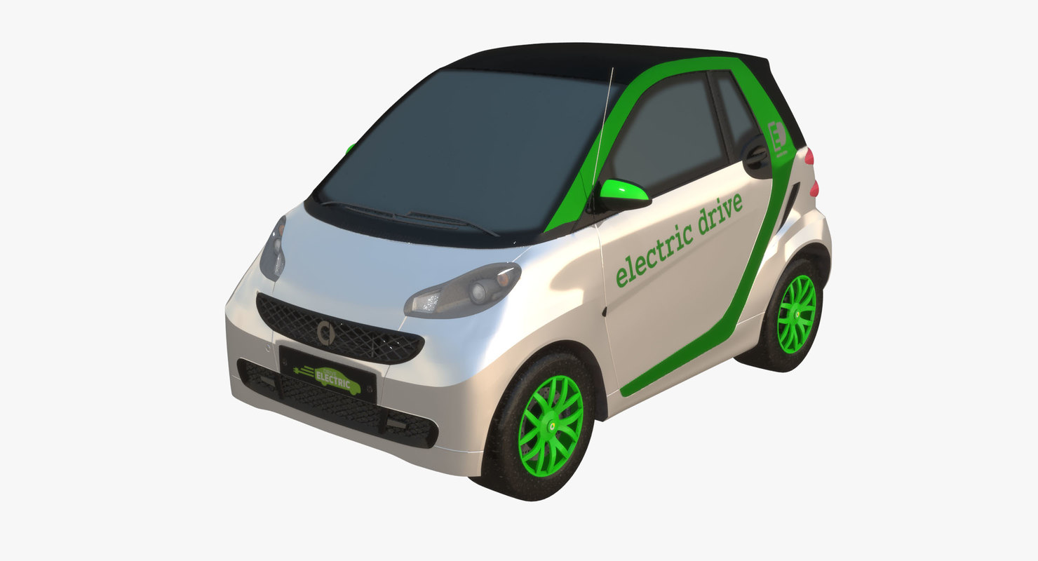 3D model smart fortwo electric drive