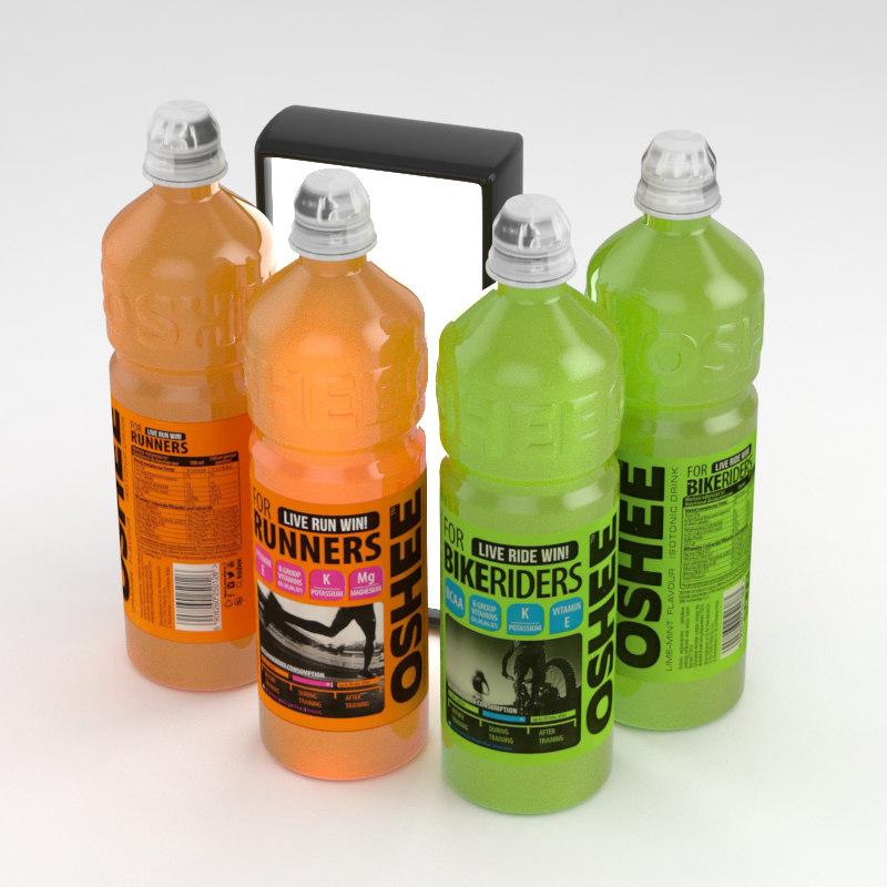 oshee isotonic beverages bottle 3D model