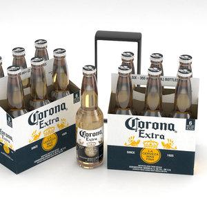 beer bottle corona extra 3D