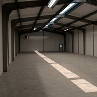 small warehouse 3D model