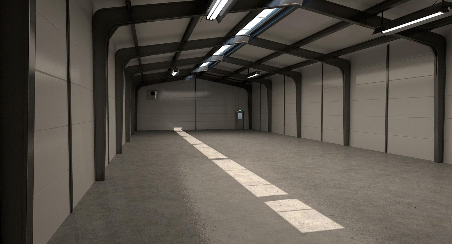 small warehouse 3D model