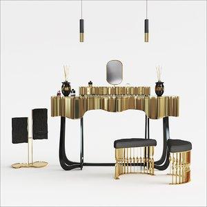 3D sinuous dressing table koket model