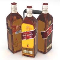Johnnie Walker Blended Scotch Whisky Red Label 1L Bottle