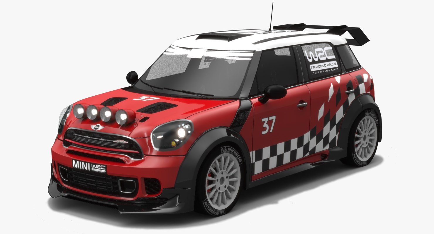 low-poly mini wrc car 3D