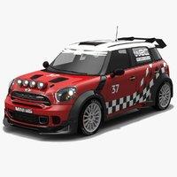 low-poly mini wrc car 3D