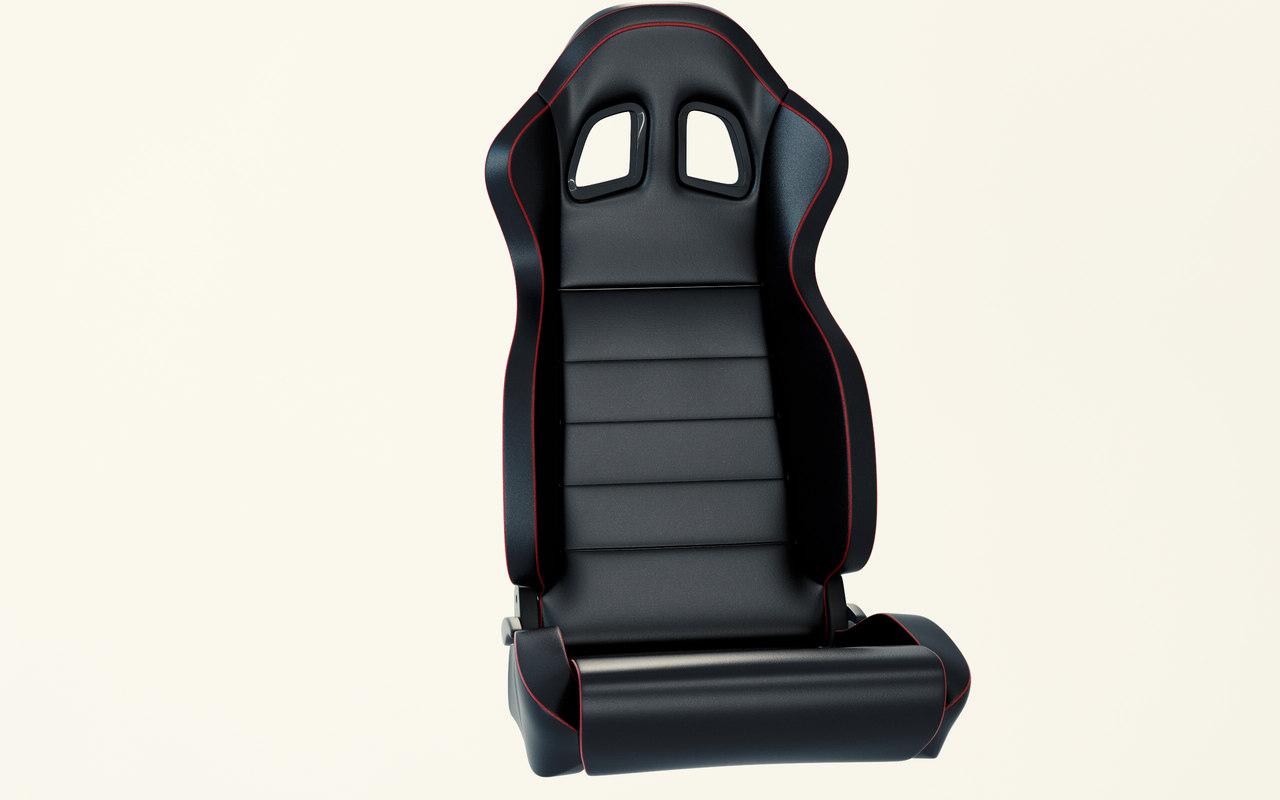 3D model car racing seat