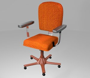 3D rigged office chair model