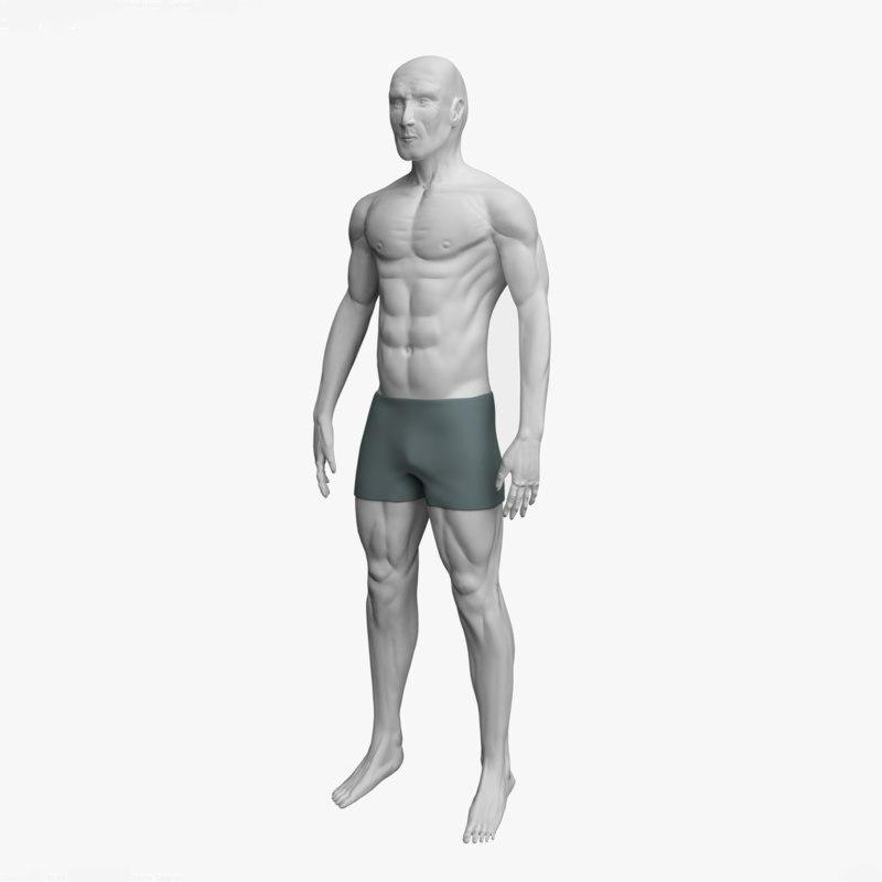 man plain base 3D