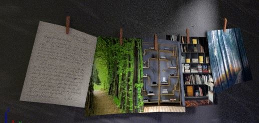 3D trendy wall model
