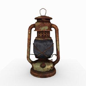 oil lantern old 3D model