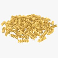 realistic spiral pasta pile 3D