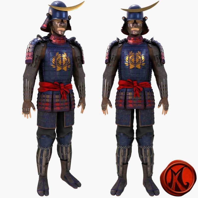 3D helmet armor model