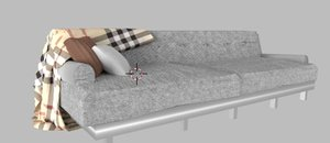 couch throw blanket 3D model