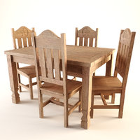3D old west chair